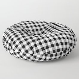 Classic Black and White Western Cowboy Buffalo Check Floor Pillow