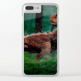 Carnotaurus Dinosaur Cretaceous Period Grass Trees Clear iPhone Case