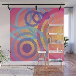Pink Circles Wall Mural