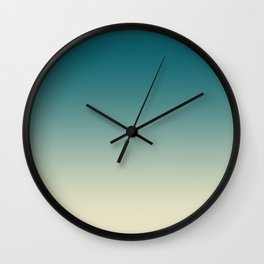Ombre Clear Day Wall Clock