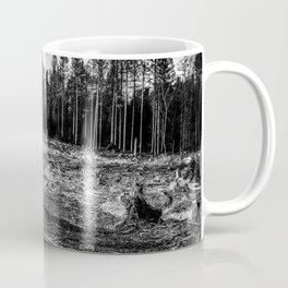 Fallen And Broken Trees After Storm Victoria February 2020 Möhne Forest 6 bw Coffee Mug