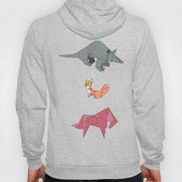 origami-Animal pattern Hoody