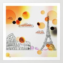 Sketch travel Art Print