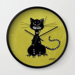 Ragged Evil Black Cat Wall Clock