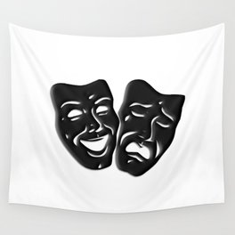 Theater Masks of Comedy and Tragedy Wall Tapestry