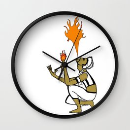 Indian Fire Wall Clock