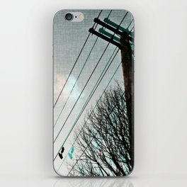 hanging by a string iPhone Skin