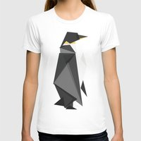 fractal T-shirts featuring Fractal geometric emperor penguin by Picomodi
