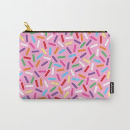 Pink Donut with Sprinkles Carry-All Pouch