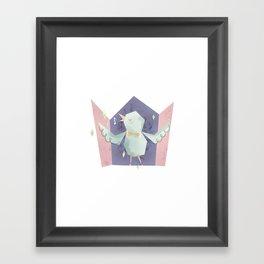Singing bird Framed Art Print