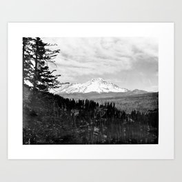 Mount Shasta, and neighboring mountain Shastina, Siskiyou County, ca.1900-1940 Art Print