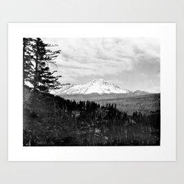Mount Shasta, and neighboring mountain Shastina, Siskiyou County, ca.1900-1940 Art Print