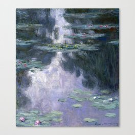 Monet - Water Lilies (Nymphéas), 1907 Canvas Print