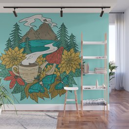 Pacific Northwest Coffee and Nature Wall Mural