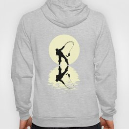 Moon Fishing Tshirt Hoody