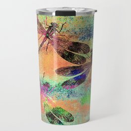 Mauritius Vintage Dragonflies Colours C Travel Mug
