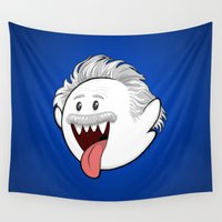 einstein Wall Tapestries featuring Boo Einstein by Olechka