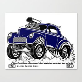 1941 WILLYS Classic Rodder - Blue Canvas Print