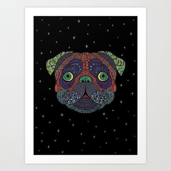 Intergalactic Dog Art Print