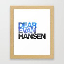Dear Evan Hansen | Galaxy Framed Art Print