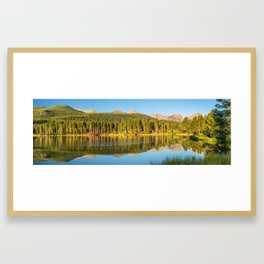 Colorado Rocky Mountain Landscape Panorama Framed Art Print