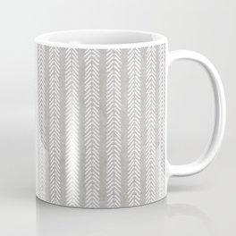 Mud cloth - Grey Arrowheads Coffee Mug