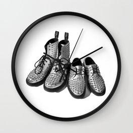 Silver Studded Docs Wall Clock