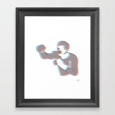 Boxing Ali (coulour) Framed Art Print