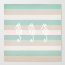 3 seahorses Canvas Print
