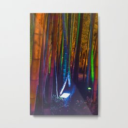 A colorful bamboo forest Metal Print