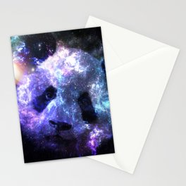 Galaxy Panda Planet Colorful Stationery Cards