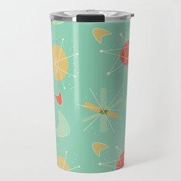 Atomic 1950s Aqua Travel Mug