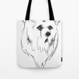 sad bear Tote Bag