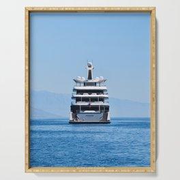Luxury Yacht Cruising Serving Tray