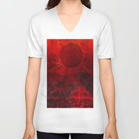 moulin rouge V-neck T-shirts featuring Soleil rouge by Ganech joe