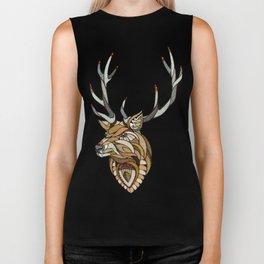 Deer // Animal Poker Biker Tank