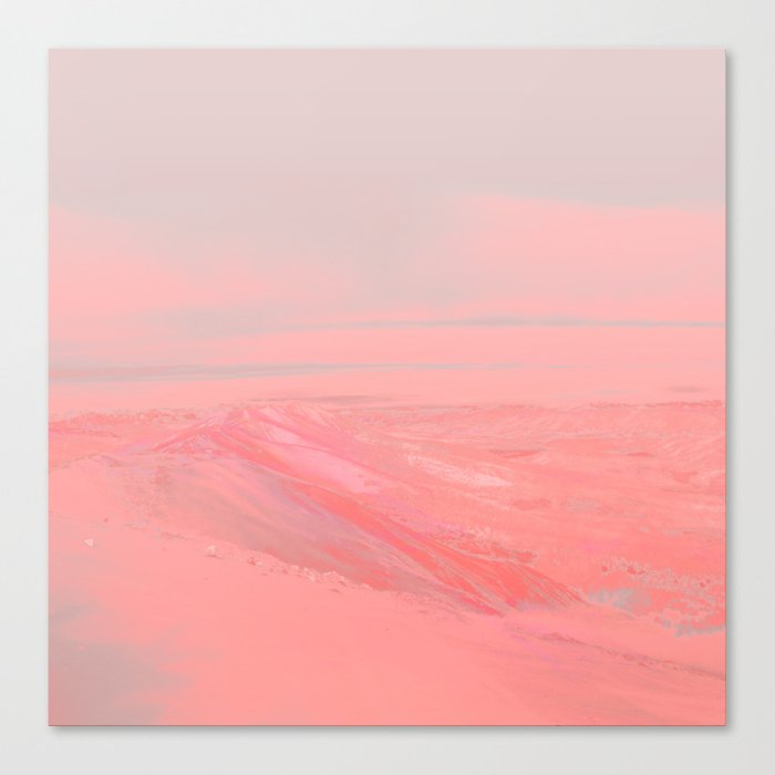CHEMIN ROSE Canvas Print