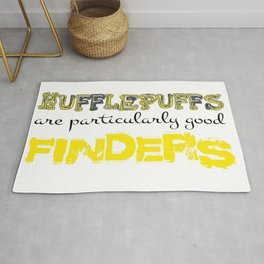 Hufflepuffs are particularly good FINDERS Rug