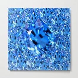 SEPTEMBER BLUE TOPAZ GEMMY  BIRTHSTONE ART Metal Print