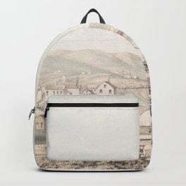 Vintage Pictorial Map of San Francisco CA (1849) Backpack