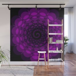 complex purple spiral Wall Mural