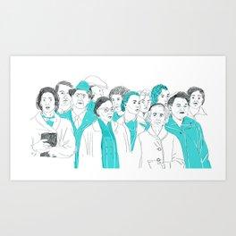 peoples Art Print