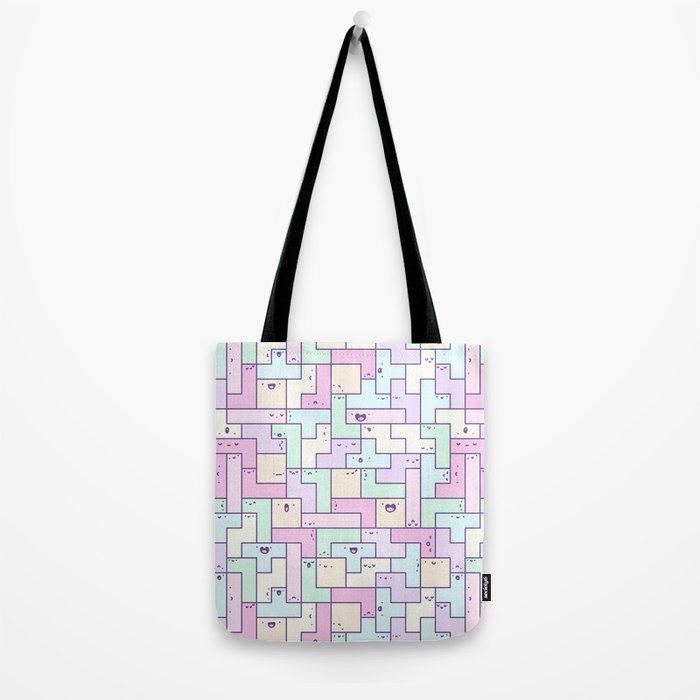 Kawaii Tetris Tote Bag