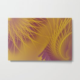 Tickle Me With a Purple and Gold Feather Metal Print