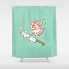 A Poisoned Slice Shower Curtain