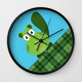 Vacka skottish plaid Wall Clock