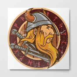 Viking Odin | Valhalla Warrior Metal Print