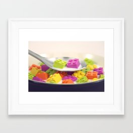 A Balanced Brickfast Framed Art Print