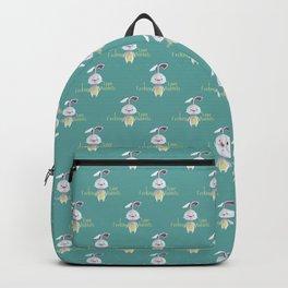 I fucking love rabbits Backpack