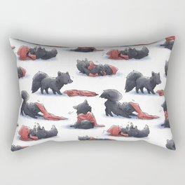 Wolf & Hoodie Rectangular Pillow